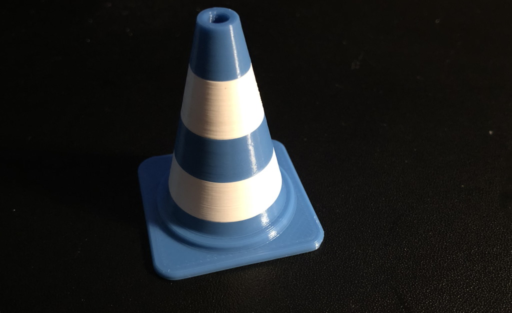 Anet ET4 Pro test prints - traffic cone